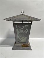 Metal frog garden candle lantern