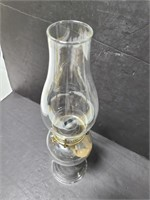 Clear glass vintage oil lamp