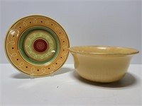 Pier 1 Imports large bowl and plate