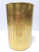Ransburg gold toned bin or planter