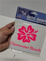 Auto-Graphs Clearwater Beach decal