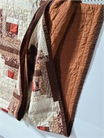 Brown toned pattern quilt