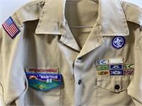 Lot of 3 Boy Scouts of America khaki uniforms