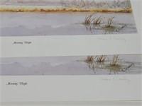 "Pair of ""Morning Flight"" watercolor prints"