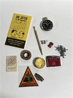 Small collection vintage junk drawer treasures
