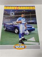 Barry Sanders Detroit Lions football poster