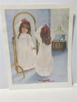 Rusty Money number print of little girl in mirror
