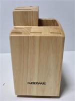 Farberware lazy susan knife block