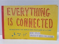 Everything is connected post card book