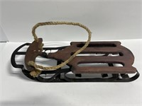 Small wood and metal sled
