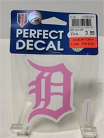 Pink Detroit Tigers decal