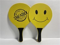 Pair of Saugatuck smiley face paddle boards