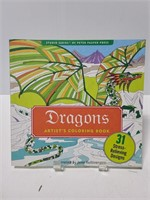 Unused Dragon stress relieving coloring book