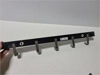 Ikea wall rack with 5 hooks