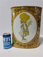 Vintage Cheinco Holly Hobby Hearts wastebasket