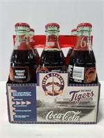 Vintage Detroit Tigers glass bottle 6pack