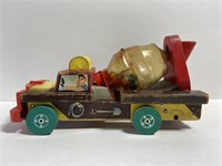 Rare vintage Fisher Price cement mixer pull toy
