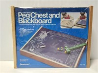 Nee sealed vintage Pressman peg chest & blackboard