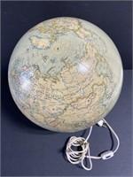 Vintage USSR era light up hanging globe