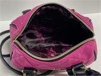 Betsey Johnson pink quilted leather purse
