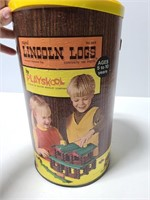 Vintage 1968 Licoln logs set in original box