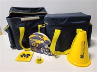 Collection of University of Michigan merchandise