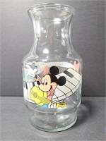 Vintage Walt Disney glass music themed carafe