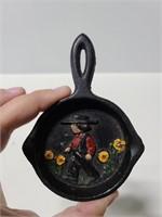 Vintage John Wright Inc Mini cast iron pan