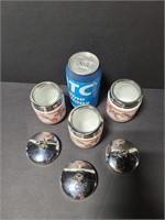 Three Williams-Sonoma egg coddlers w/ chrome lids
