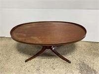 Vintage mersman claw foot coffee table