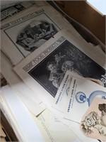 Collection of old ephemera & knickknacks