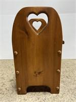 Handcrafted wood storage step stool