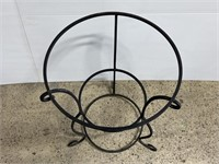 Vintage XL wrought iron plant stand