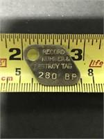 Small antique car identification key tag
