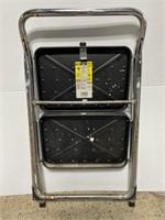 Tricam folding metal step ladder