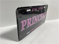 I'm the princess novelty license plate