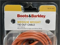 New medium weight dog tie-out cable