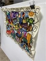 Hand sewn Guatemalan hanging tapestry