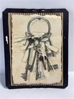 Skeleton key decor trio