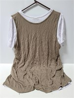 New w/ tags Silver Stitch layered top xl
