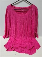 Ana 2xl New w/ tags pink 3/4 sleeve top