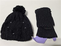 New boot cuffs and knit winter hat