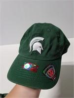 Michigan State ball cap and visor