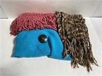 Lot of 3 chunky knit scarves