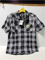 New with tags small Adidas short sleeve button up