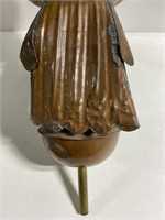 Vintage copper eagle weathervane topper