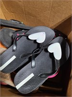 Box of sandals
