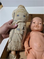Old dolls and doll parts