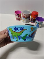 Cups, bowl, games and craft