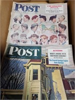 Vintage Saturday evening post magazines